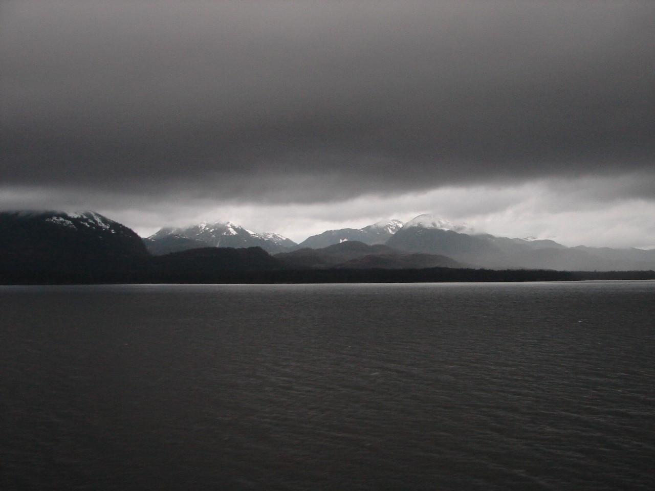 Alaska Shoreline at Dusk