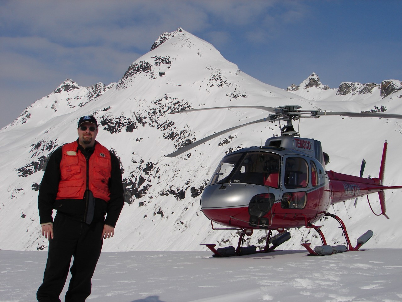 Richard with Helicopter during Glacier Tour